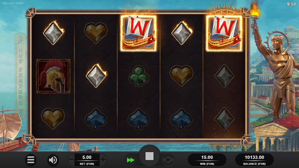 Helios Fury Slot - Bonus Trigger