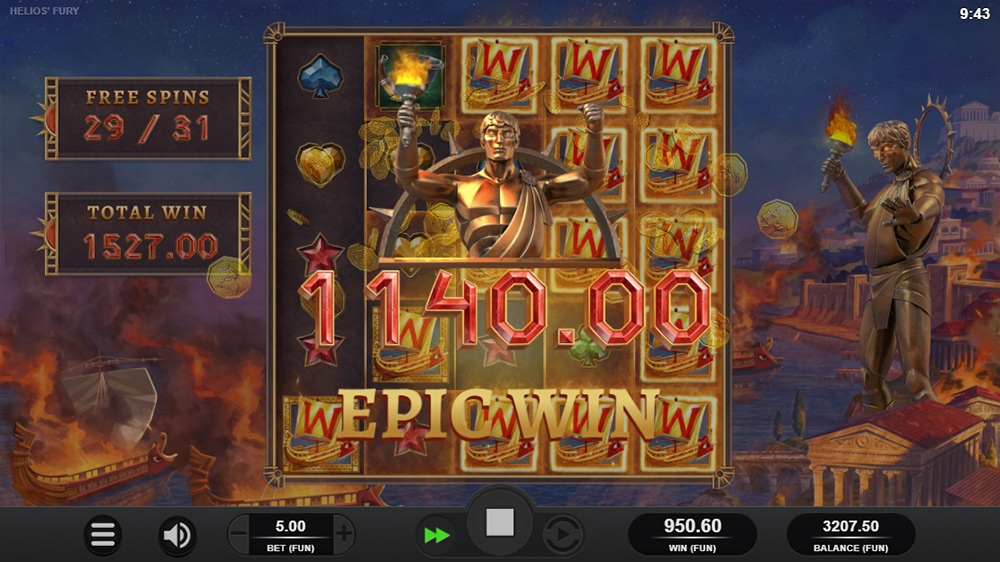 Helios Fury Slot - Epic Win
