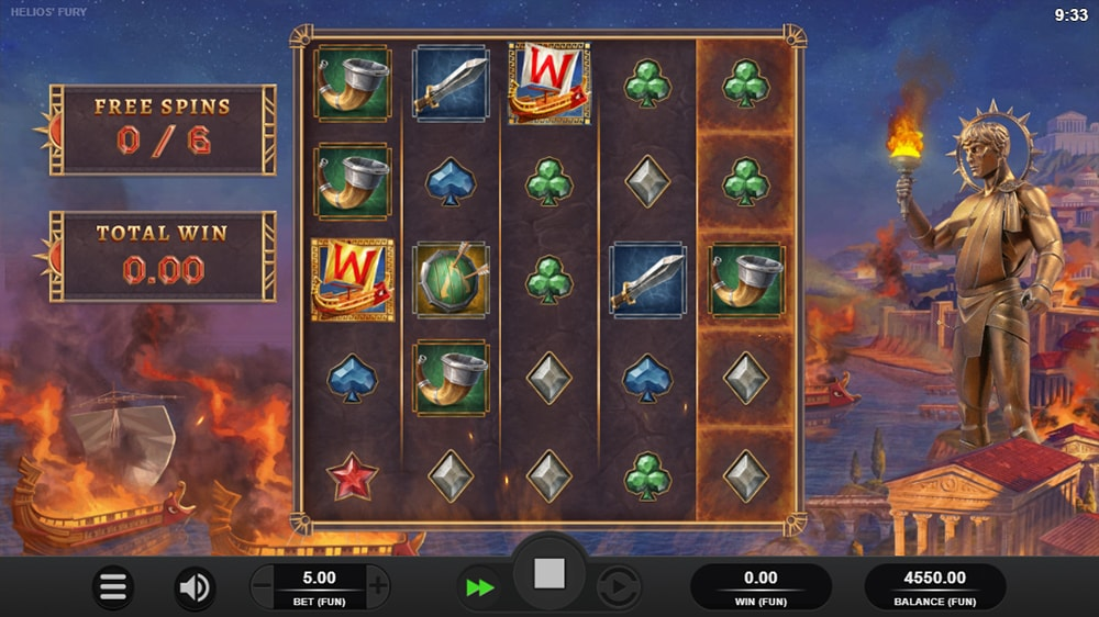 Helios Fury Slot - Free Spins Start