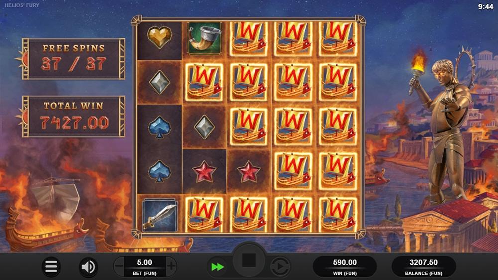Helios Fury Slot - Huge Number of Added Wilds