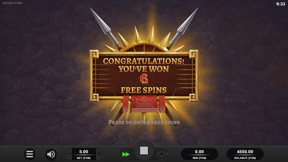 Helios Fury Slot - Bonus Start