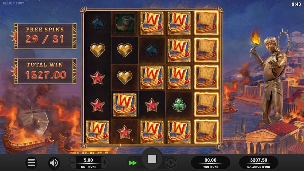 Helios Fury Slot - Free Spins Sticky Wilds