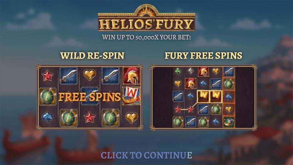 Helios Fury Slot - Intro Screen
