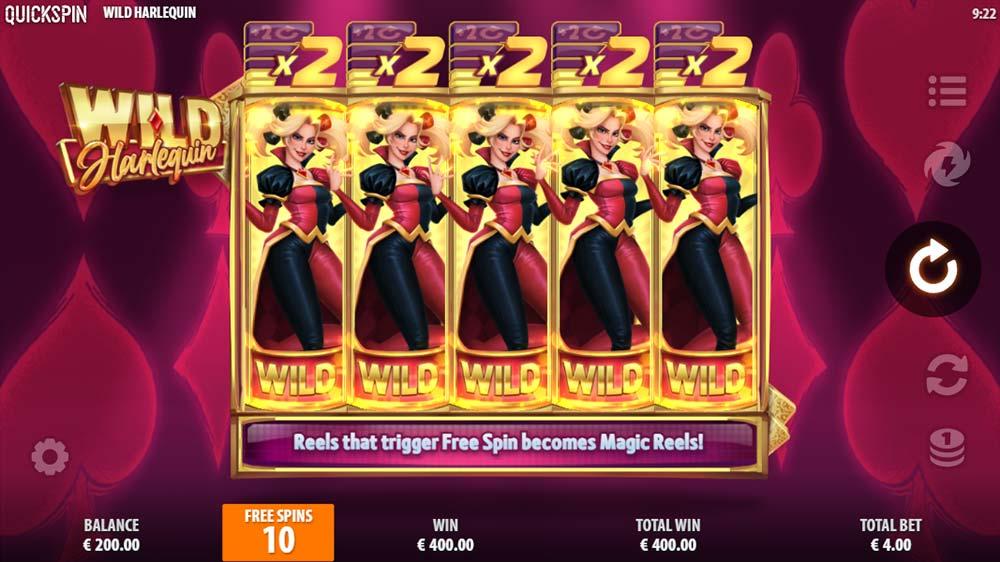 Wild Harlequin Slot - Free Spins Start