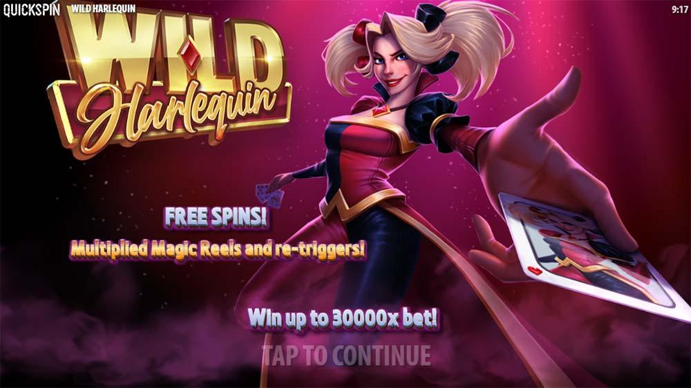 Wild Harlequin Slot - Intro Screen