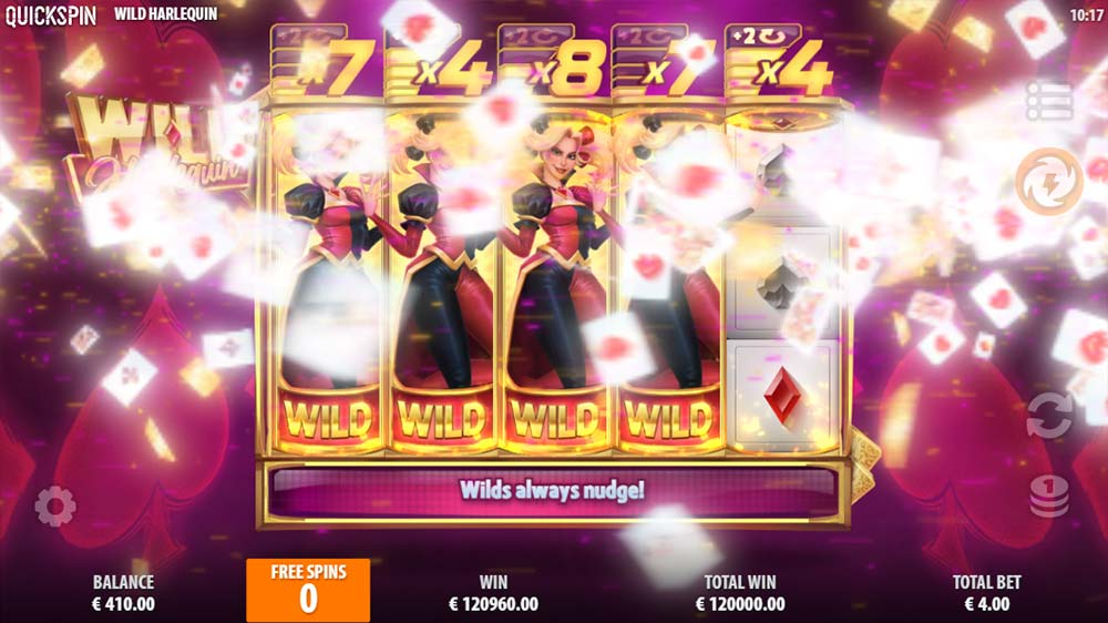 Wild Harlequin Slot - Huge Multiplier Win