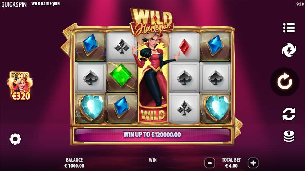 Wild Harlequin Slot - Base Game