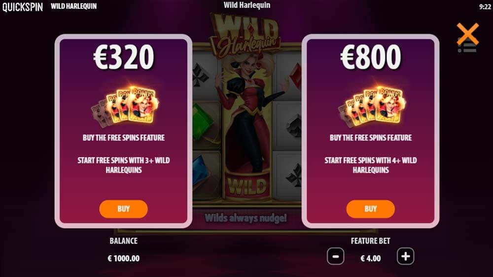 Wild Harlequin Slot - Bonus Buy
