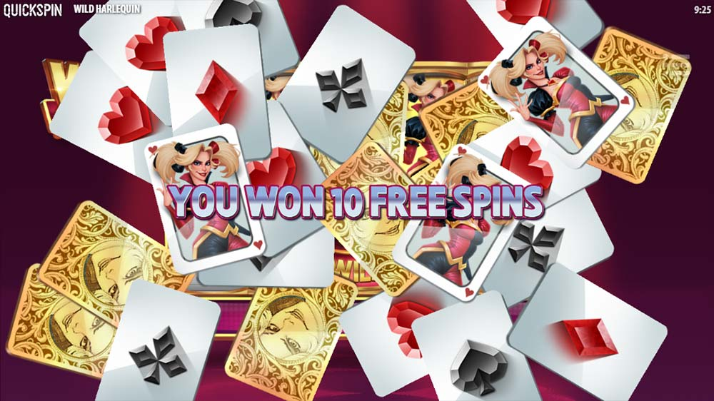 Wild Harlequin Slot - Bonus Start Screen